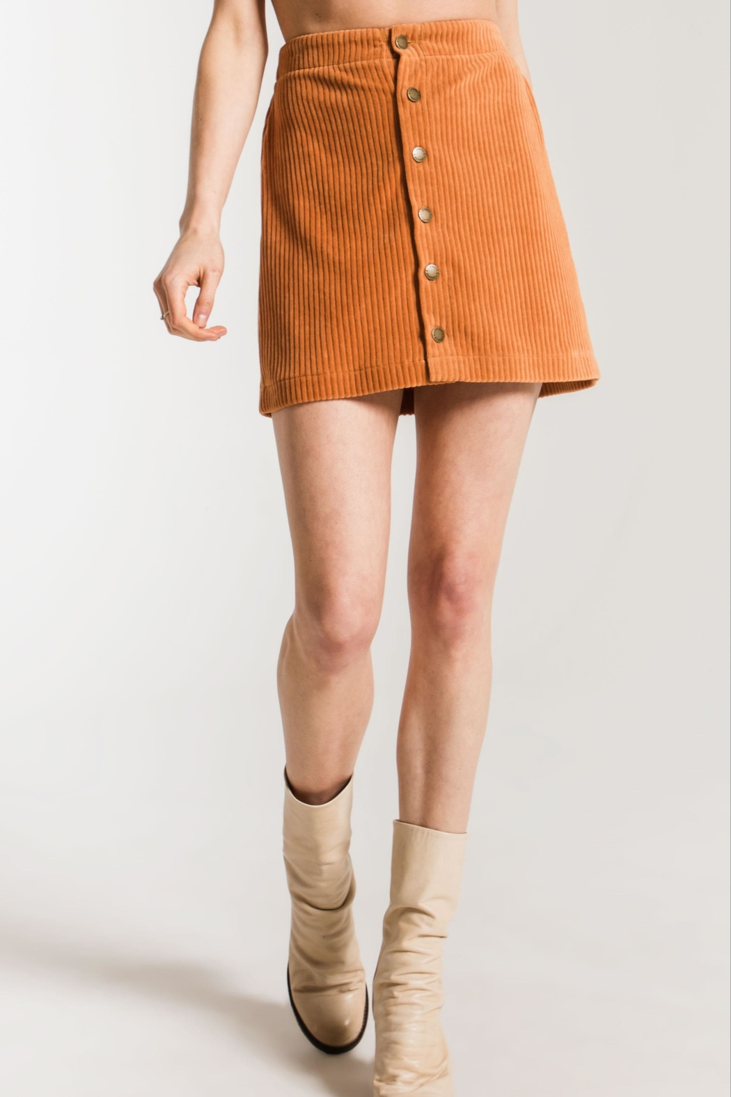 z supply Knit Corduroy Skirt - Main Image