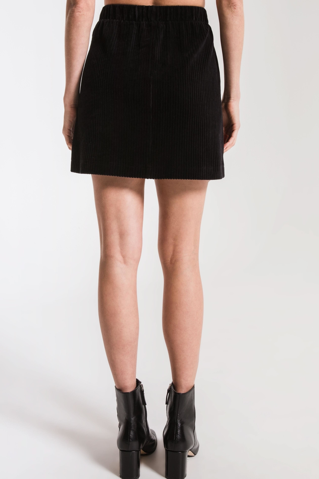 z supply Knit Corduroy Skirt - Side Cropped Image
