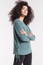 z supply Lace Up Crew - Front full body