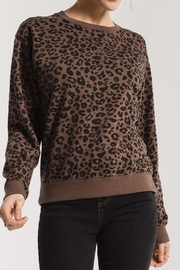 z supply Leopard Pullover Sweatshirt - Product Mini Image