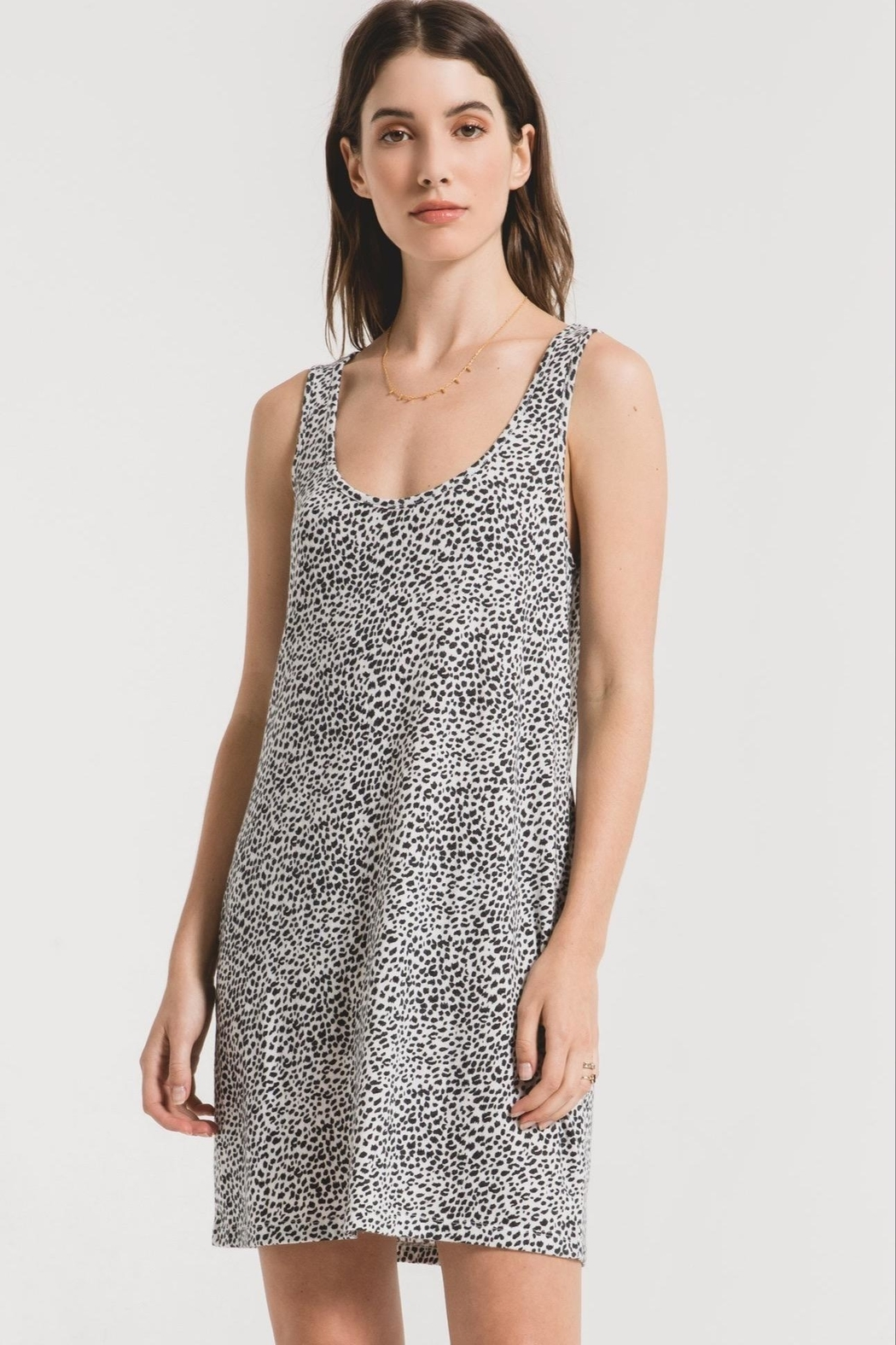 z supply Leopard Tank Dress - Front Full Image
