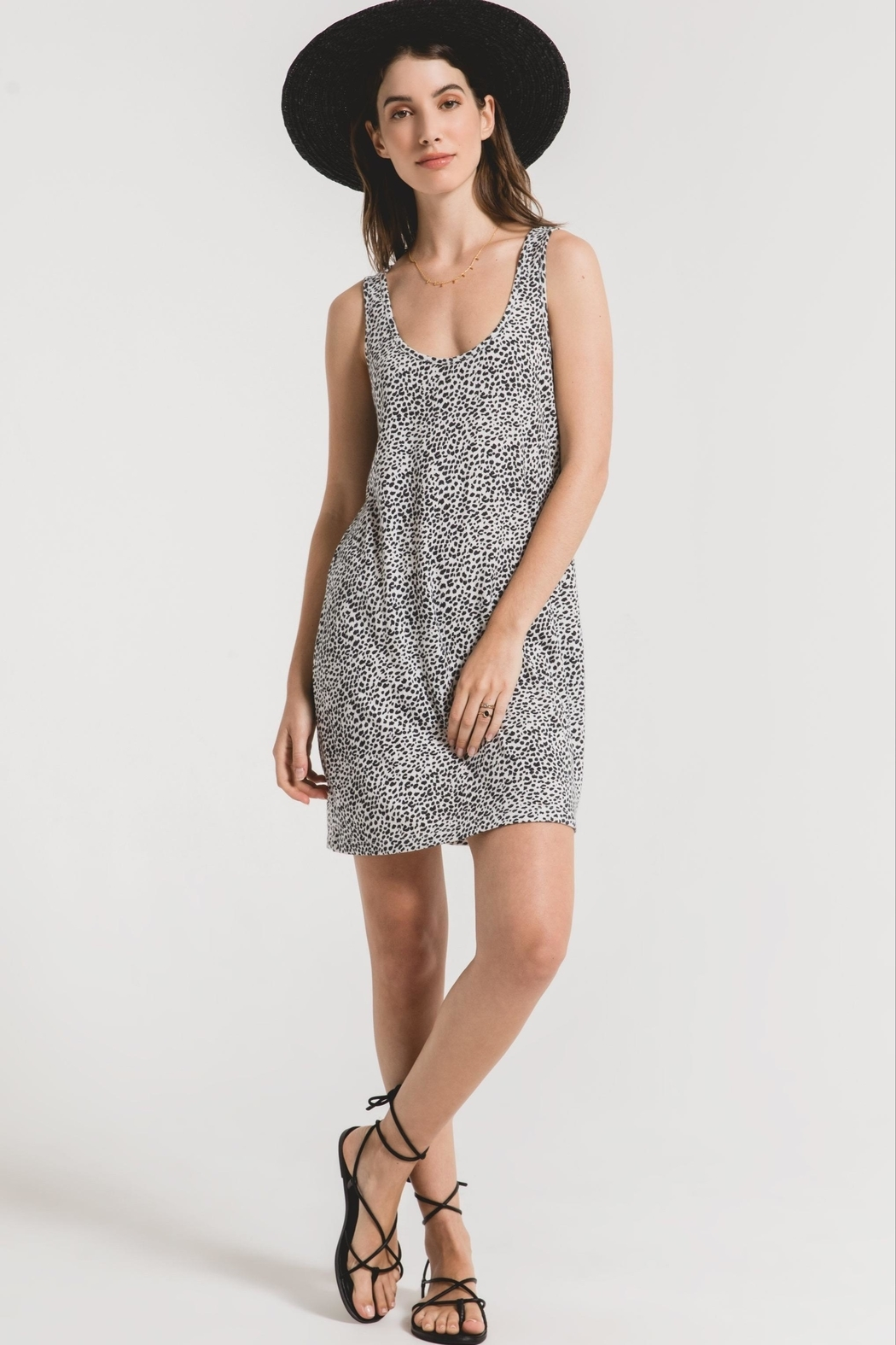 z supply Leopard Tank Dress - Front Cropped Image
