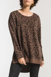 z supply Leopard Weekender Sweatshirt - Product Mini Image