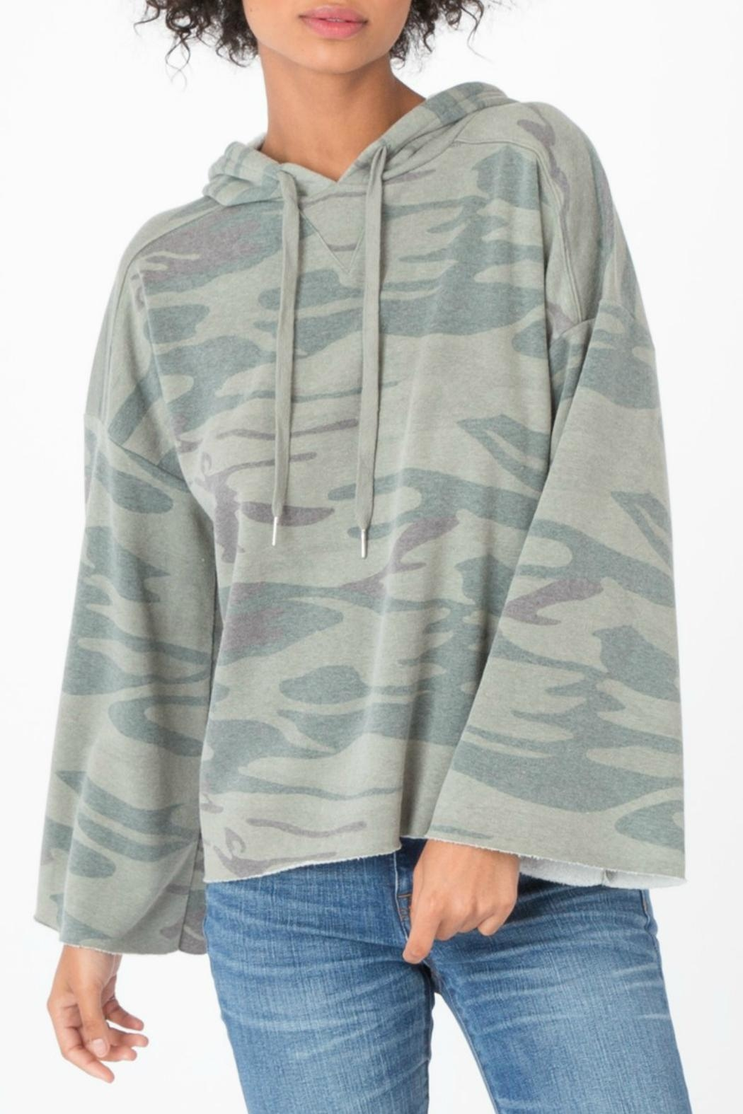 z supply Loft Camo Pullover Top - Front Cropped Image