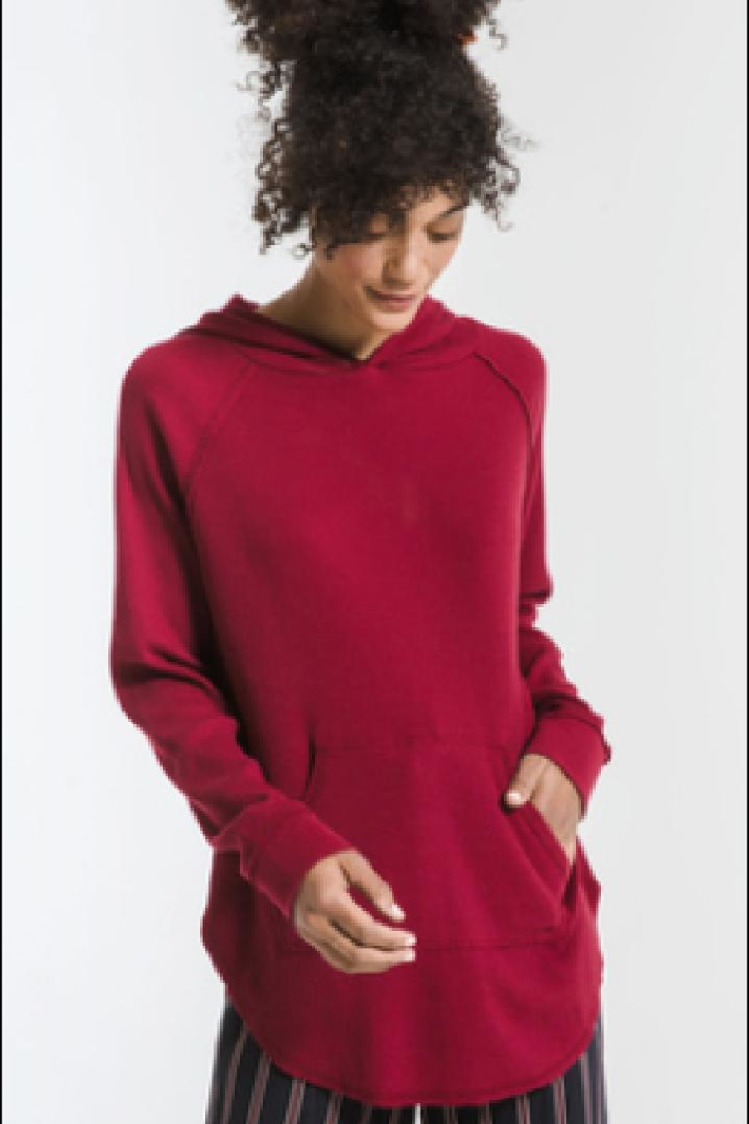 z supply Long-Sleeve Thermal Hoodie - Front Cropped Image
