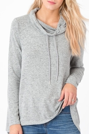 z supply Marled Cowl-Neck Sweater - Front cropped