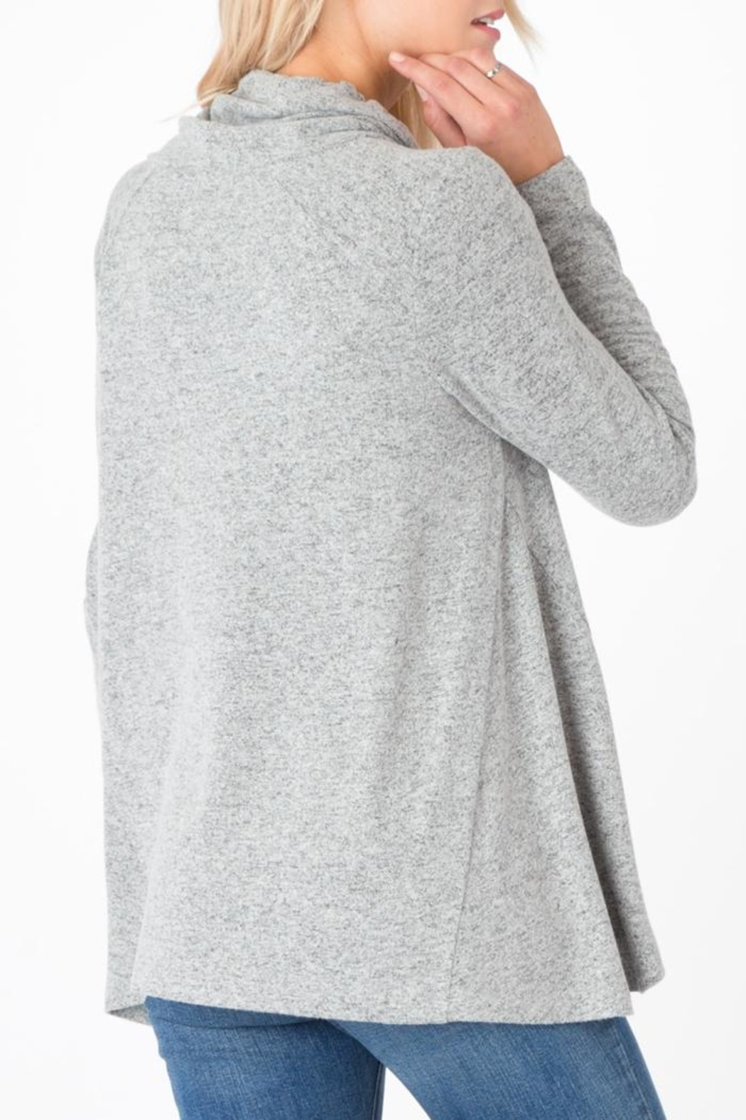 z supply Marled Cowl-Neck Sweater - Front Full Image