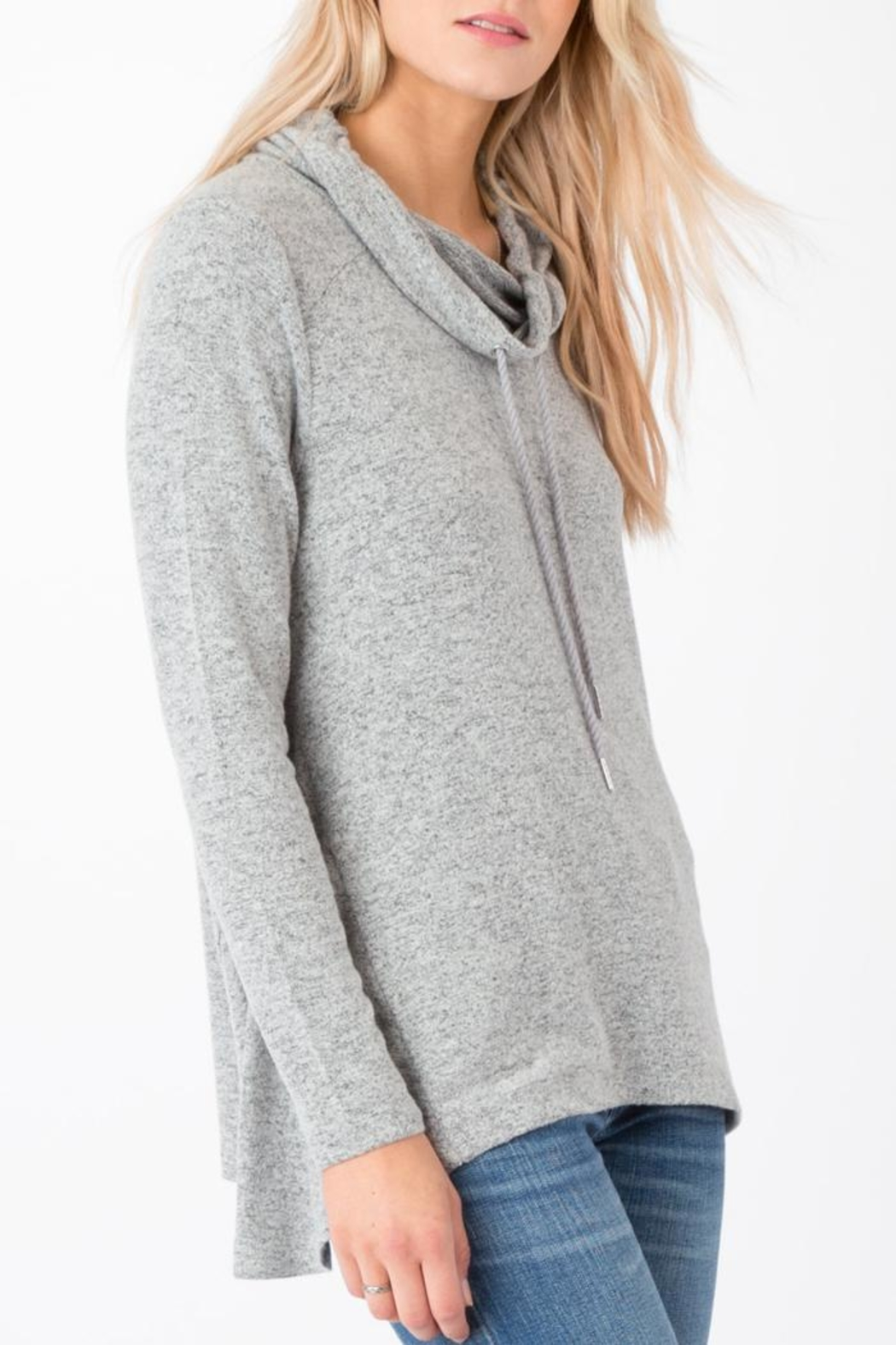 z supply Marled Cowl-Neck Sweater - Side Cropped Image