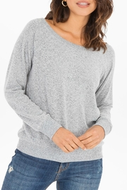 z supply Marled Off-Shoulder Pullover - Product Mini Image