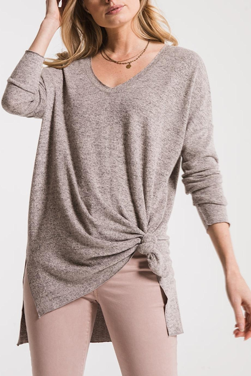 z supply Marled Sweater Tunic - Main Image