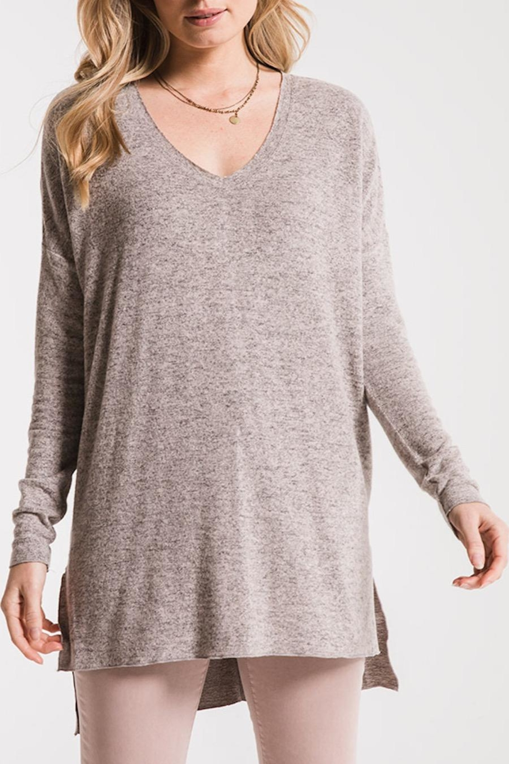 z supply Marled Sweater Tunic - Back Cropped Image