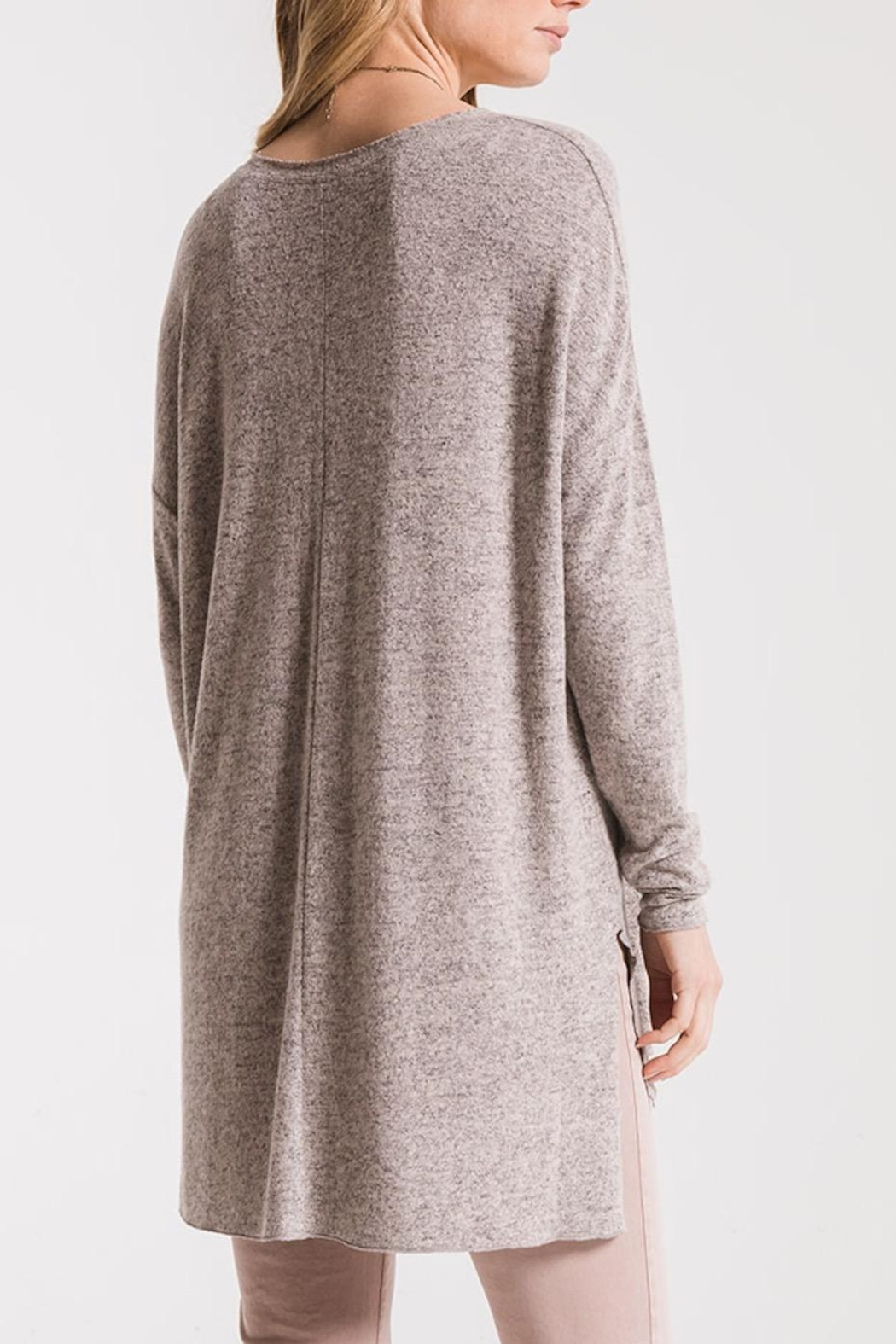 z supply Marled Sweater Tunic - Side Cropped Image
