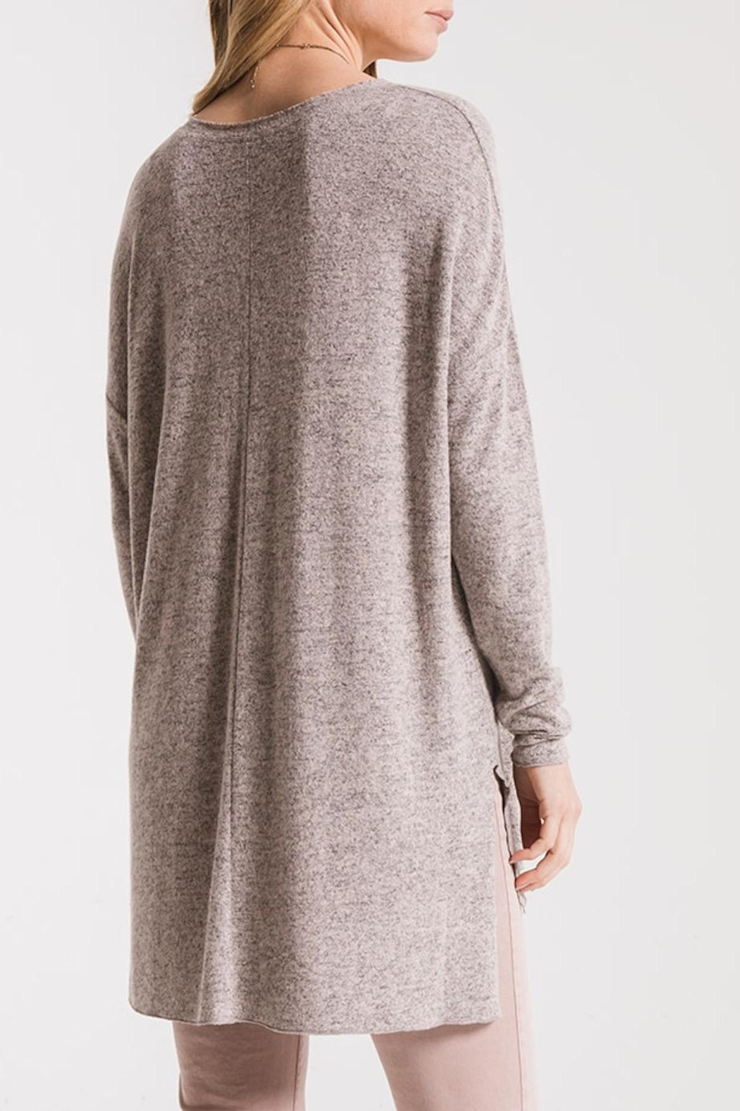 z supply Marled Sweater Tunic - Front Full Image