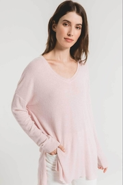 z supply Marled Sweater Tunic-Pale Blush/ivory - Front cropped