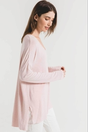 z supply Marled Sweater Tunic-Pale Blush/ivory - Front full body