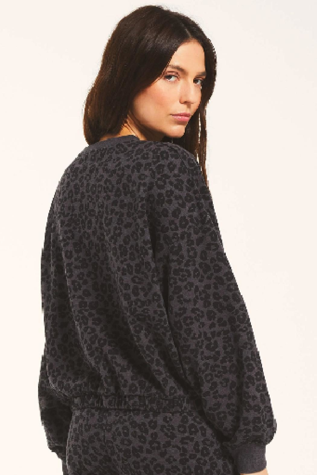 z supply Mason Leopard Pullover - Side Cropped Image