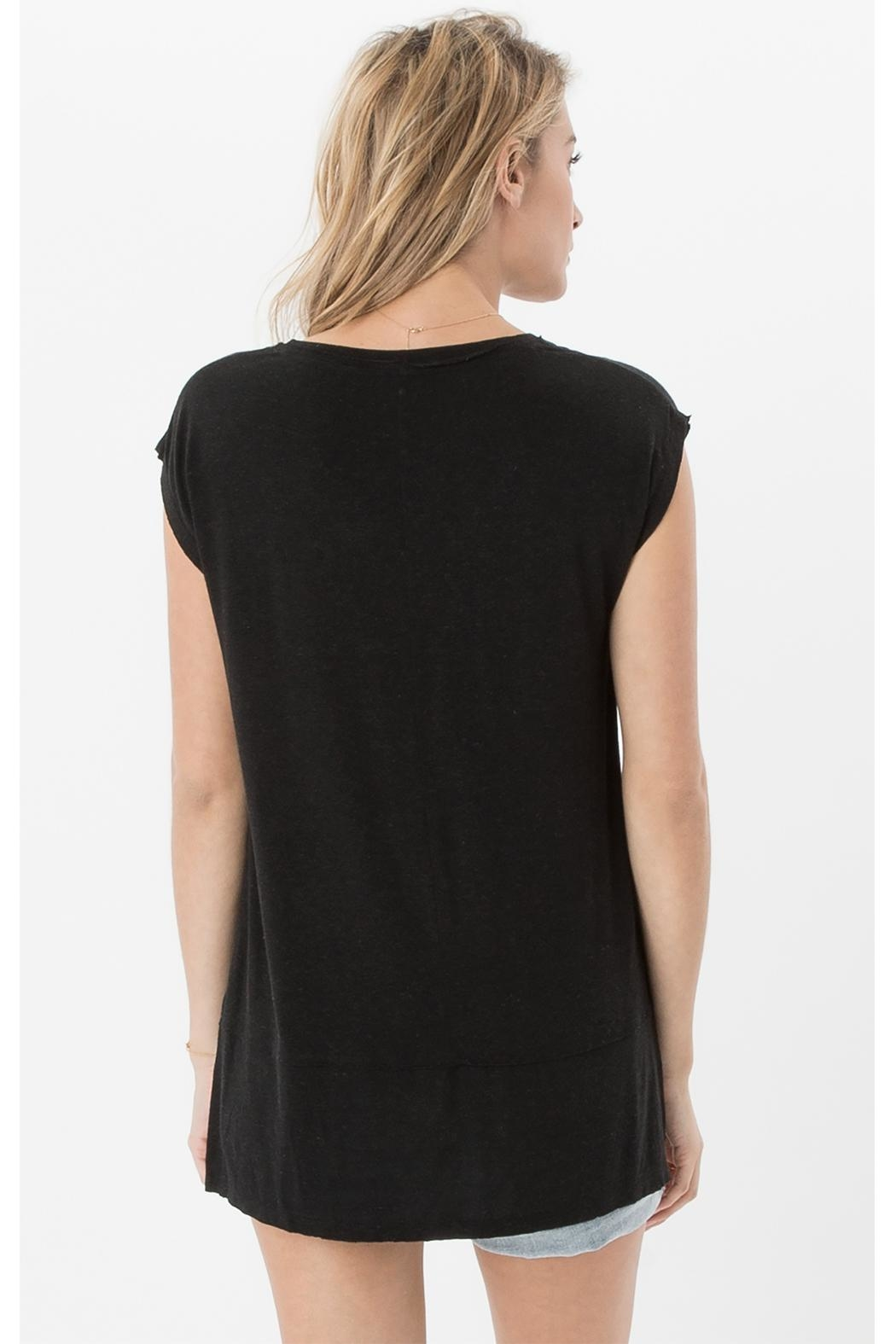 z supply Mia Linen Top - Back Cropped Image