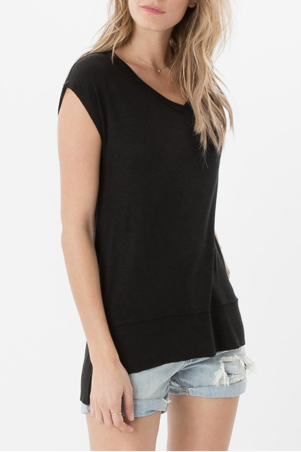 z supply Mia Linen Top - Side Cropped Image