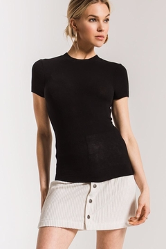 Shoptiques Product: Micro Rib Fitted Tee