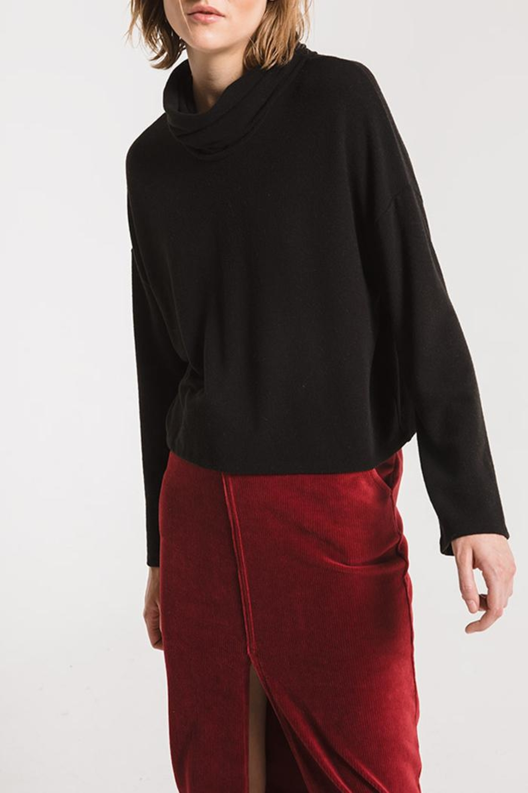 z supply Mock Neck Sweater - Front Full Image