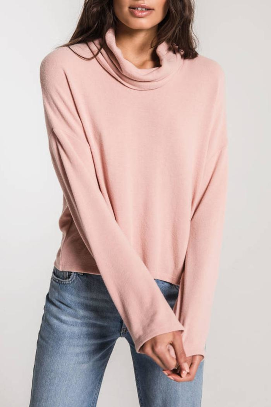 z supply Mock Neck Sweater - Front Cropped Image