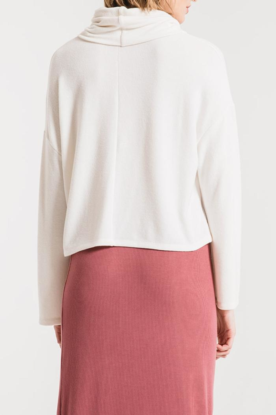 z supply Mock Neck Sweater - Side Cropped Image
