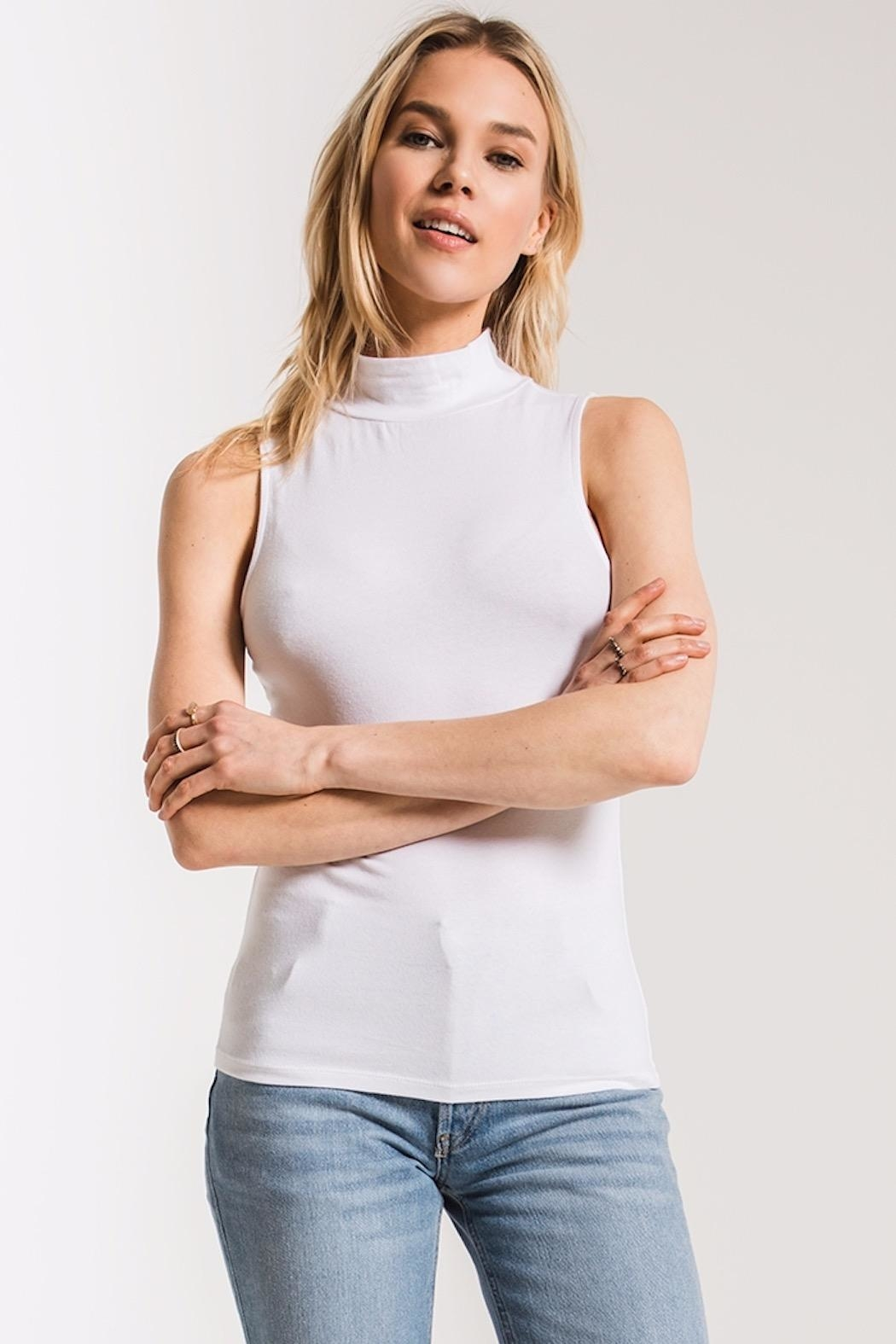 z supply Mock Neck Tank - Front Cropped Image