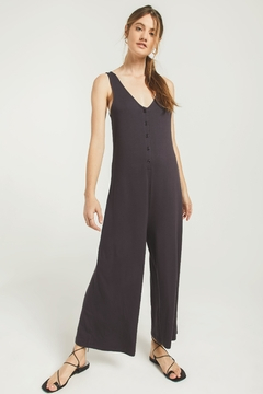 Z Supply  Mojave Jumpsuit-Washed Black - Product List Image