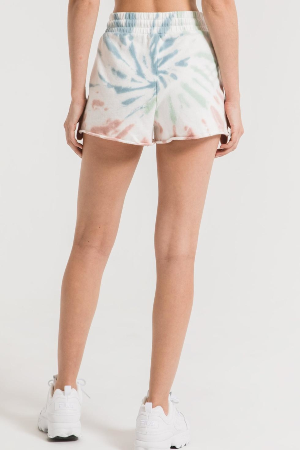 Z Supply  Multicolor Tie-Dye Shorts - Side Cropped Image