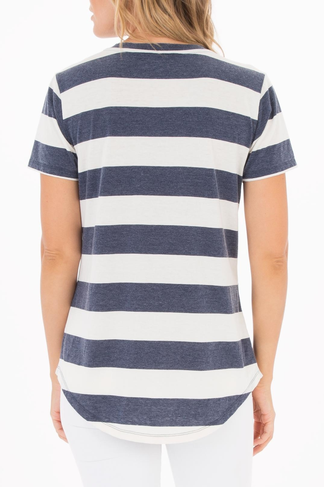 z supply Naples Striped Tee - Front Full Image
