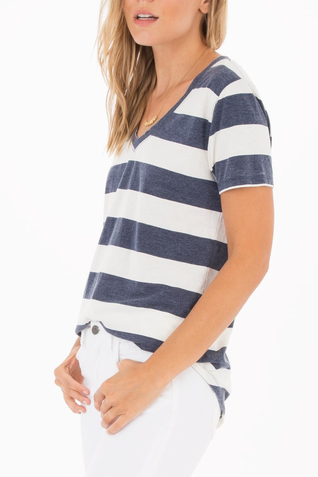 z supply Naples Striped Tee - Side Cropped Image