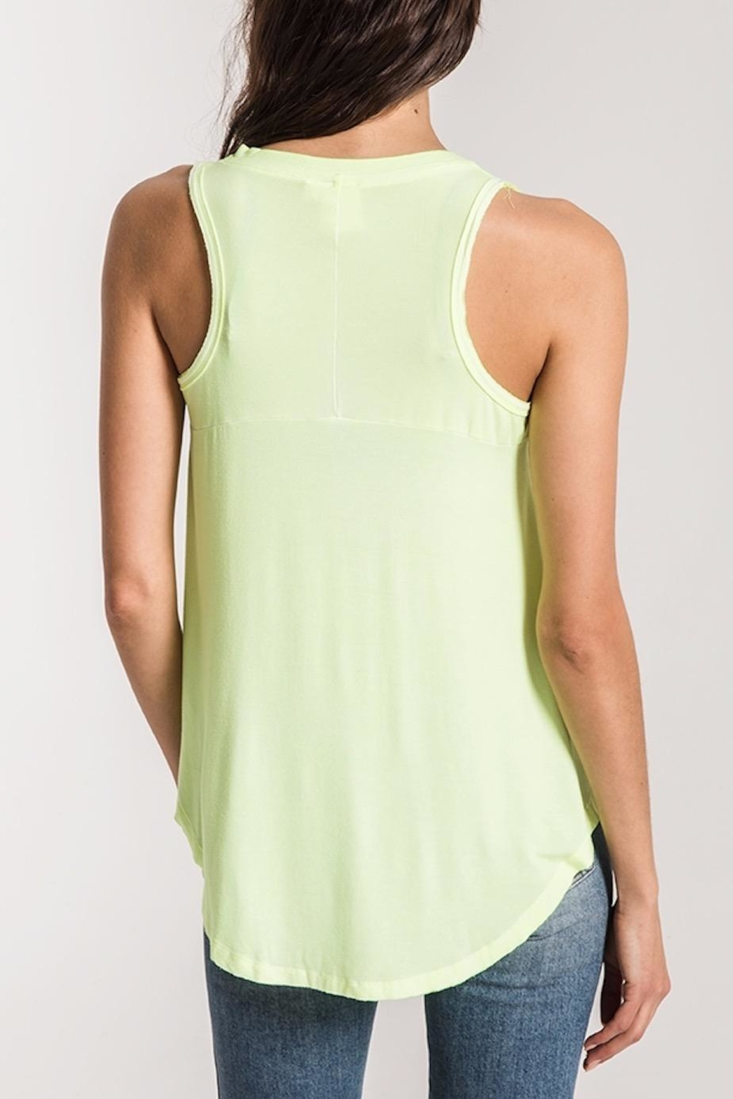 z supply Neon Lime Tank - Front Full Image