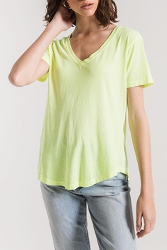 z supply Neon Lime V-Neck - Product List Image