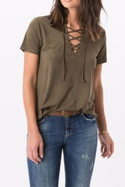 z supply Olive Laced Tee - Product Mini Image