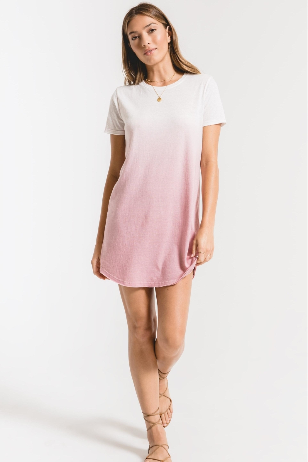 z supply Ombre Dip-Dye Dress - Front Cropped Image