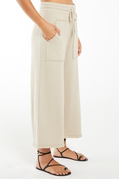 z supply Paloma Loop Terry Pant - Green Tea - Product List Image