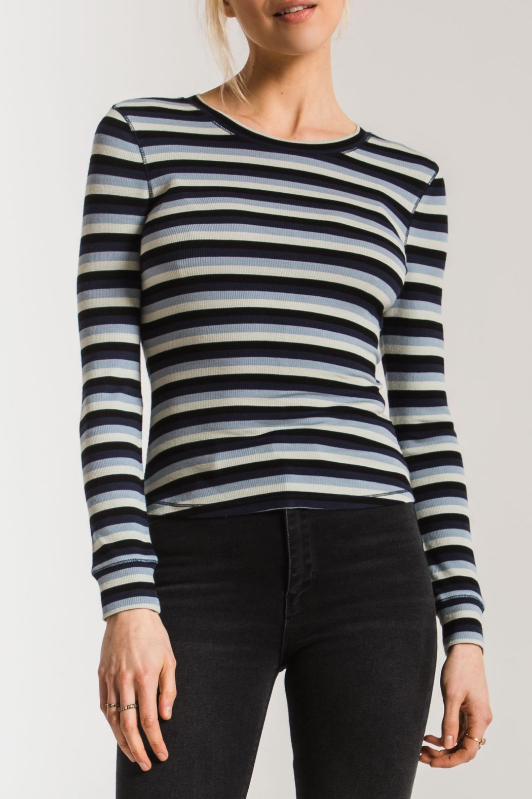 z supply Pamina Striped Tee - Front Cropped Image
