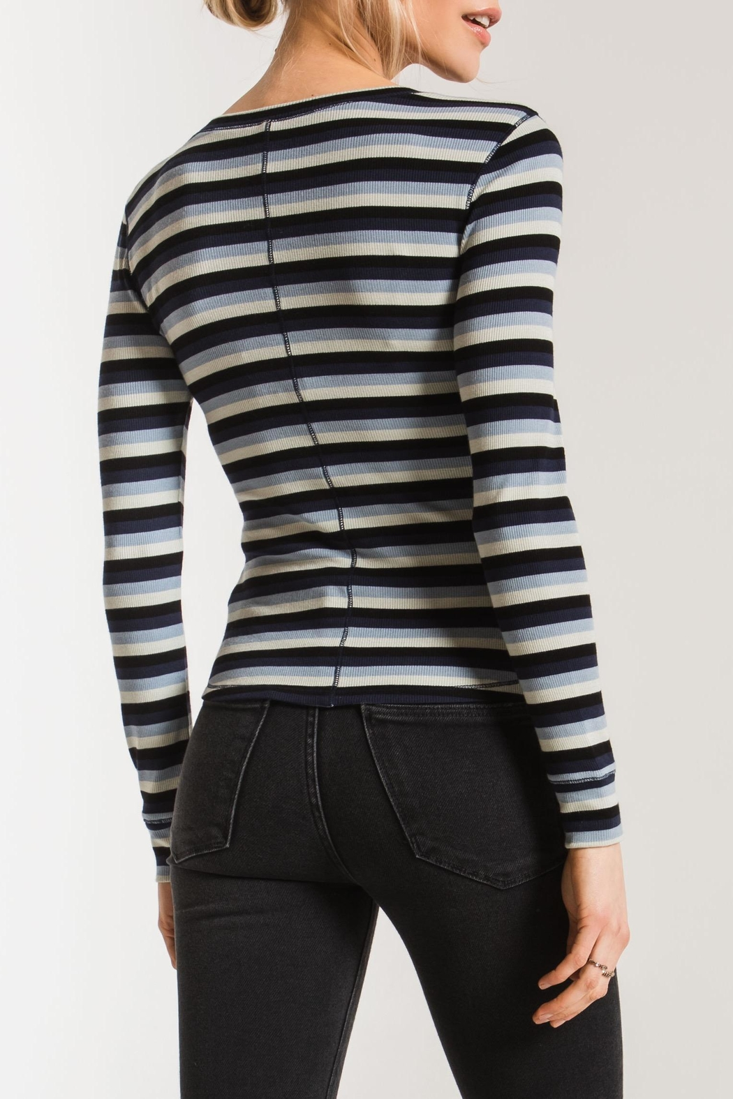 z supply Pamina Striped Tee - Front Full Image