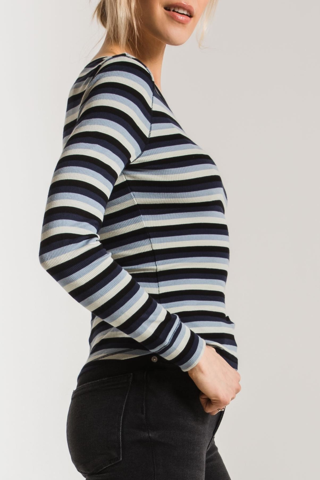z supply Pamina Striped Tee - Side Cropped Image