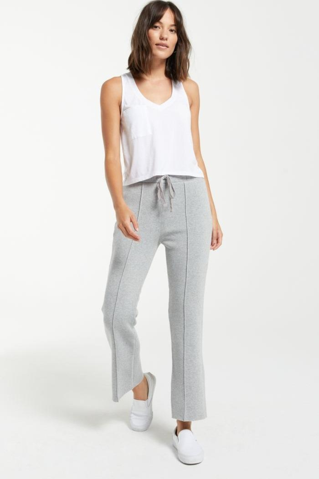 z supply Peyton Cropped Sweatpant - Front Full Image