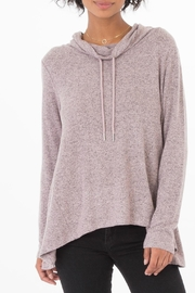 z supply Pink Cowlneck Top - Product Mini Image