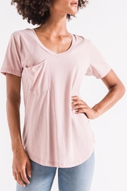 z supply Pink Pocket Tee - Front cropped