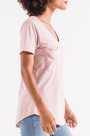 z supply Pink Pocket Tee - Side cropped