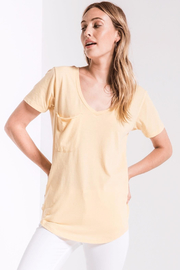 z supply Pink Pocket Tee - Front full body