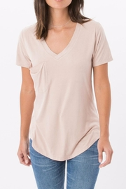 z supply Pink Suede Tee - Front cropped