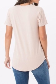 z supply Pink Suede Tee - Front full body