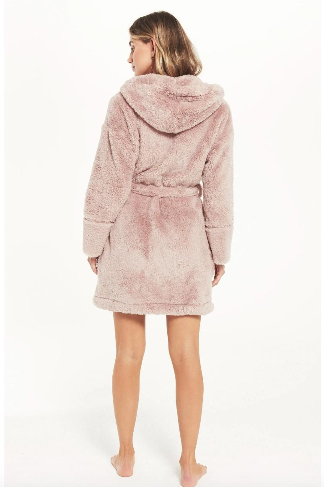 z supply Plush Pink Robe - Side Cropped Image