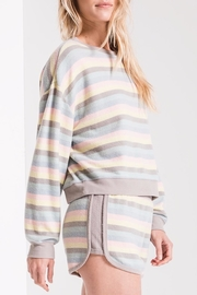 z supply Rainbow Stripe Pullover - Side cropped