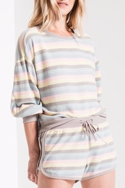 z supply Rainbow Stripe Pullover - Front full body