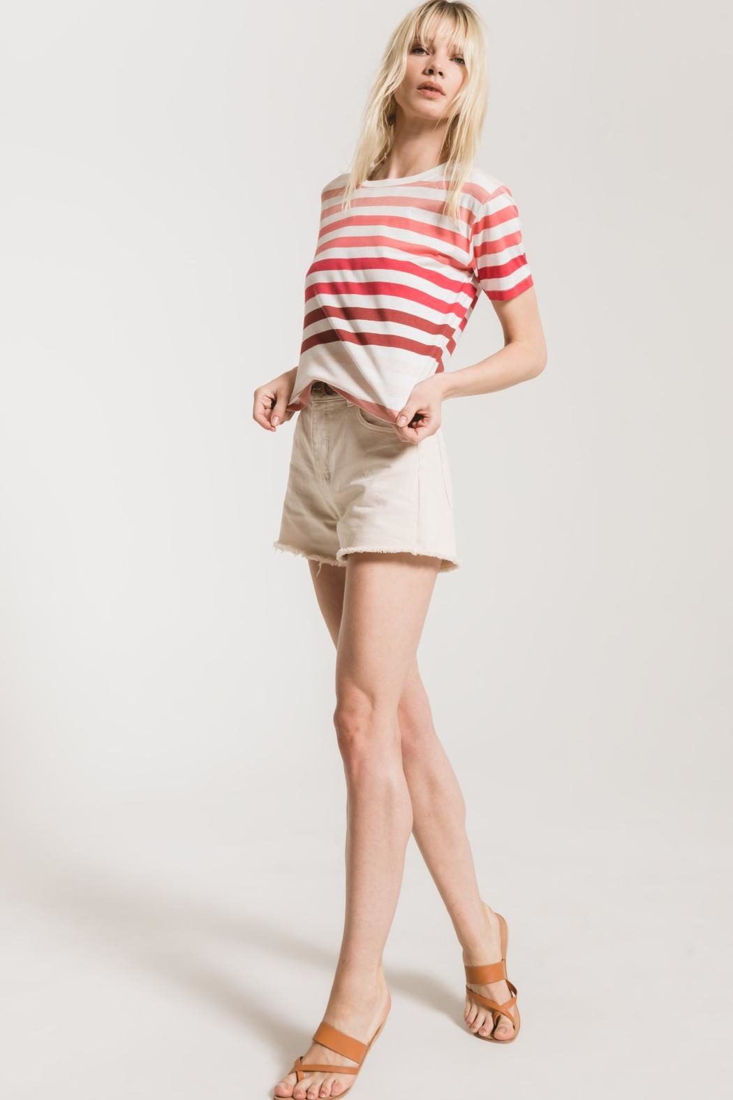 Z Supply  Rainbow Stripe Tee - Main Image